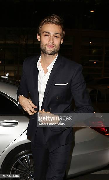 Douglas Booth attending the Pride And Prejudice And Zombies after party at Bounce on February 1 2016 in London England