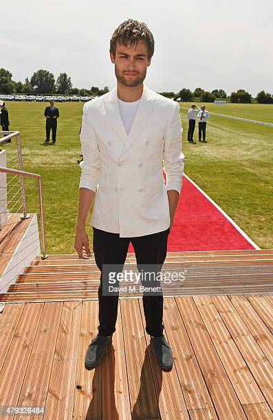 Douglas Booth attends the Audi Polo Challenge 2015 at Cambridge County Polo Club on July 3 2015 in Cambridge England