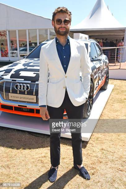 Douglas Booth attends the Audi Polo Challenge at Coworth Park Polo Club on June 30 2018 in Ascot England