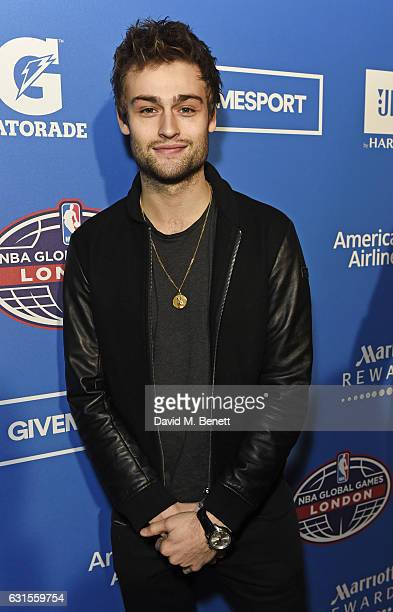 Douglas Booth attends the Denver Nuggets v Indiana Pacers game during NBA Global Games London 2017 at The O2 Arena on January 12 2017 in London...
