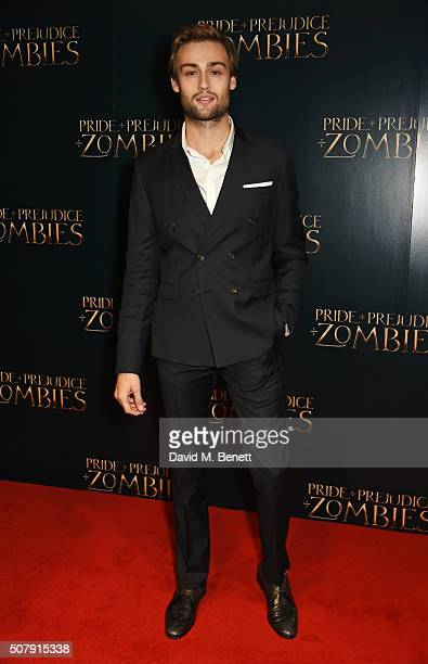 Douglas Booth attends the European Premiere of 'Pride And Prejudice And Zombies' at the Vue West End on February 1 2016 in London England