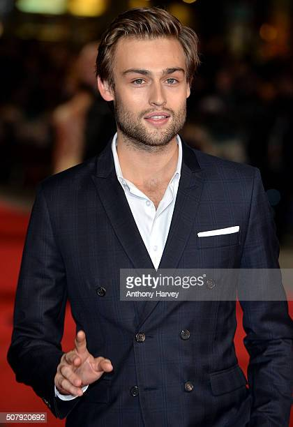 Douglas Booth attends the European premiere of Pride And Prejudice And Zombies on at Vue West End on February 1 2016 in London England