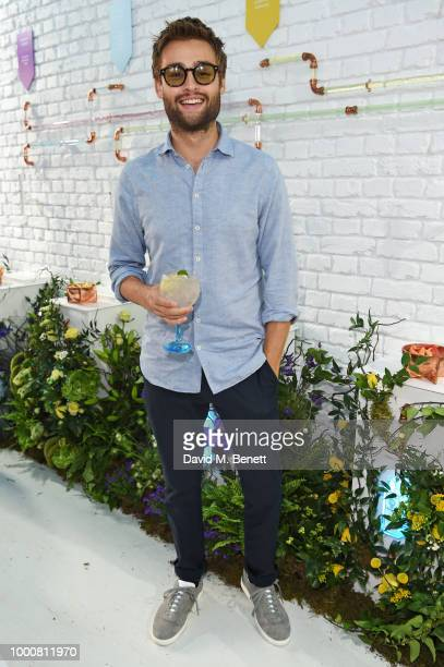 Douglas Booth attends the launch of Bombay Sapphire's 'Canvas' a destination designed to stir creativity and inspire creative selfexpression in...