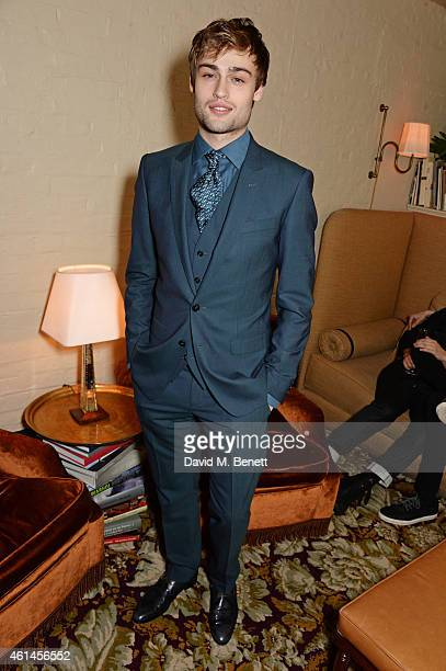 Douglas Booth attends the launch of Tom Ford's new fragrance 'Noir Extreme' at The Chiltern Firehouse on January 12 2015 in London England