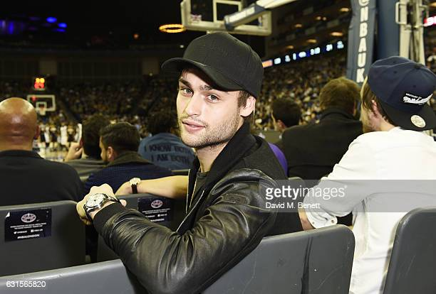 Douglas Booth attends the NBA Global Game London 2017 basketball game between the Indiana Pacers and Denver Nuggets at The O2 Arena on January 12...