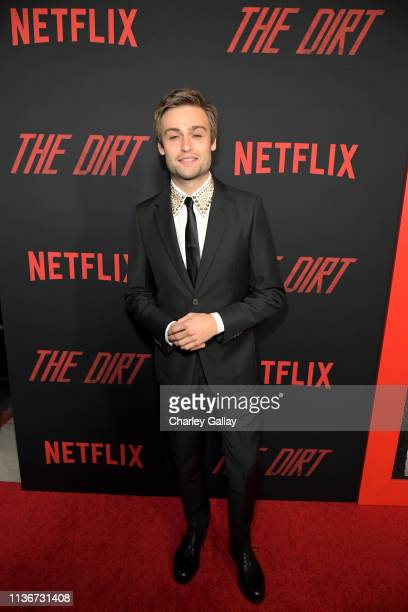 Douglas Booth attends the premiere of Netflix's 'The Dirt at the Arclight Hollywood on March 18 2019 in Hollywood California