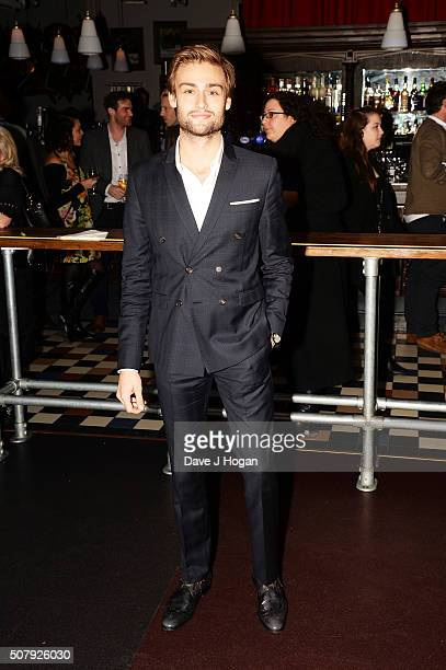 Douglas Booth attends the 'Pride and Prejudice and Zombies' European premiere after party at Bounce Ping Pong on February 1 2016 in London England