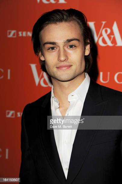 Douglas Booth attends the private view for the 'David Bowie Is' exhibition in partnership with Gucci and Sennheiser at the Victoria and Albert Museum...