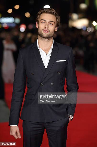 Douglas Booth attends the red carpet for the European premiere for Pride And Prejudice And Zombies on at Vue West End on February 1 2016 in London...