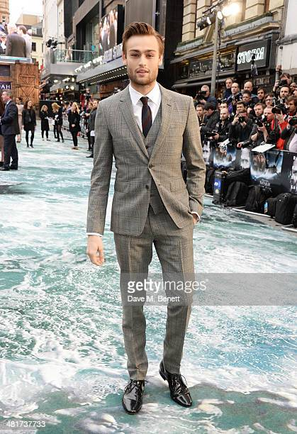 Douglas Booth attends the UK Premiere of 'Noah' at Odeon Leicester Square on March 31 2014 in London England
