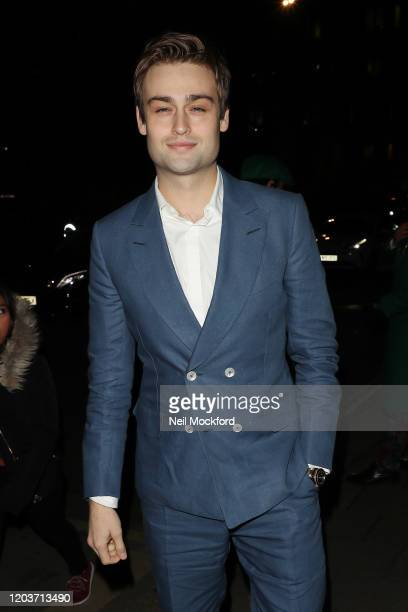 Douglas Booth attends the Vogue x Tiffany Fashion Film after party for the EE British Academy Film Awards 2020 at Annabel's on February 02 2020 in...