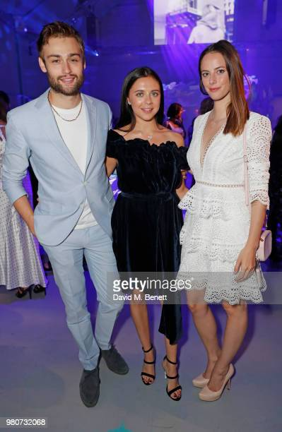 Douglas Booth Bel Powley and Kaya Scodelario attend as Tiffany Co celebrates the launch of the Tiffany Paper Flower collection at The Lindley Hall on...