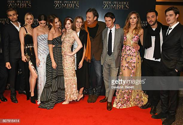 Douglas Booth Bella Heathcote Millie Brady Lily James Ellie Bamber Hermione Corfield director Burr Steers Matt Smith Suki Waterhouse Jack Huston and...
