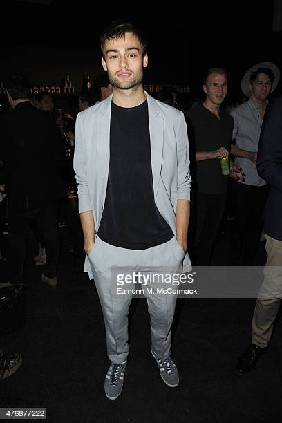 Douglas Booth front row at the Topman Design show during The London Collections Men SS16 at The Old Sorting Office on June 12 2015 in London England