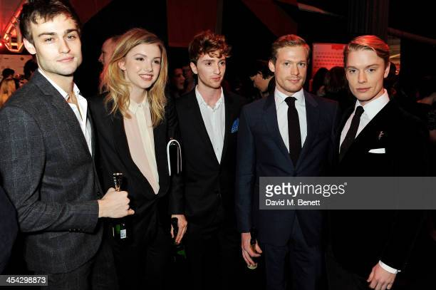 Douglas Booth Hannah Murray Luke Newberry Sam Reid and Freddie Fox attend the Moet Reception at the Moet British Independent Film Awards 2013 at Old...