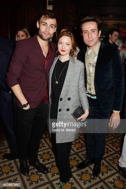 Douglas Booth Holliday Grainger and Nick Grimshaw attend Harvey Weinstein's BAFTA Dinner in partnership with Burberry GREY GOOSE at Little House...