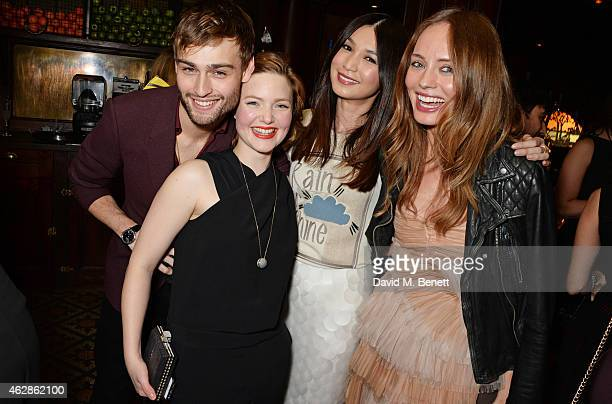 Douglas Booth Holliday Grainger Gemma Chan and Laura Haddock attend Harvey Weinstein's BAFTA Dinner in partnership with Burberry GREY GOOSE at Little...