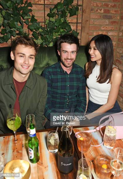 Douglas Booth Jack Whitehall and Gemma Chan attend the launch of The Curtain in Shoreditch on May 11 2017 in London England