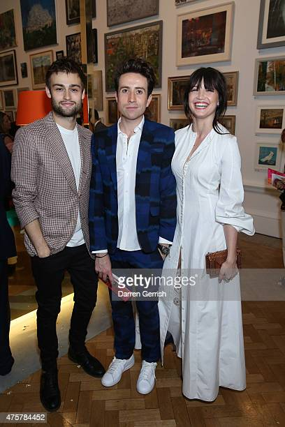 Douglas Booth Nick Grimshaw and Daisy Lowe attend the Summer Exhibition Preview Party at Royal Academy of Arts on June 3 2015 in London England