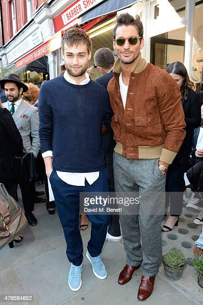 Douglas Booth wearing Club Monaco and David Gandy attend the Club Monaco X MR PORTER event to celebrate the opening of Club Monaco second Men's Shop...