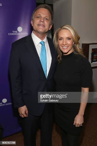 Douglas Brinkley and Dana Perino attend 'Trump Year One' Presidential Panel on January 17 2018 in New York City