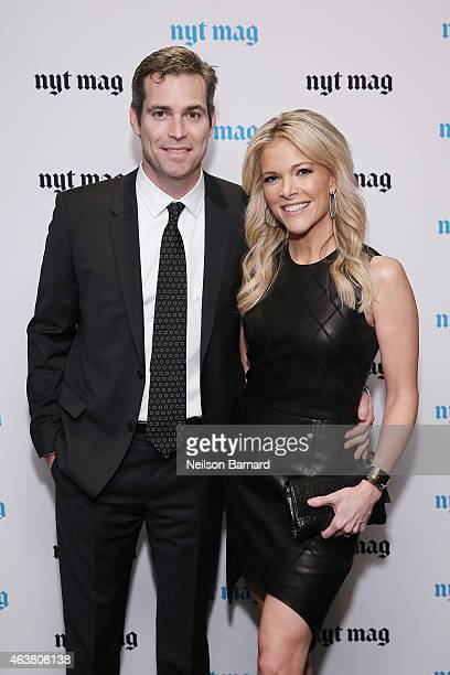 Douglas Brunt and journalist Megyn Kelly attend The New York Times Magazine Relaunch Event on February 18 2015 in New York City