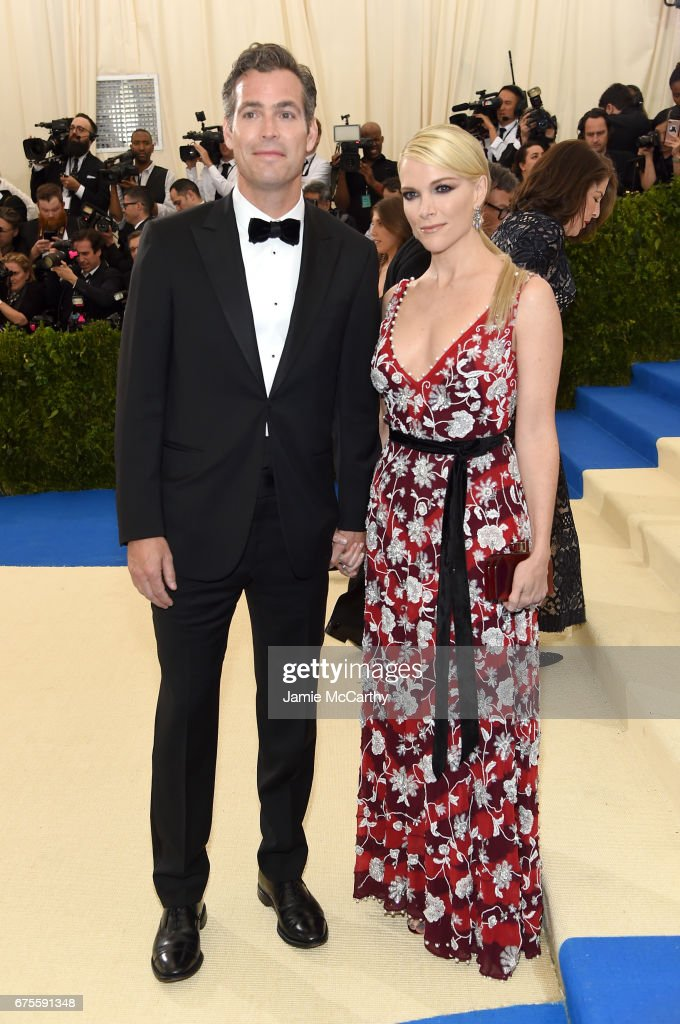 Douglas Brunt (L) and Megyn Kelly attend the 'Rei Kawakubo/Comme des Garcons: Art Of The In-Between' Costume Institute Gala at Metropolitan Museum of Art on May 1, 2017 in New York City.