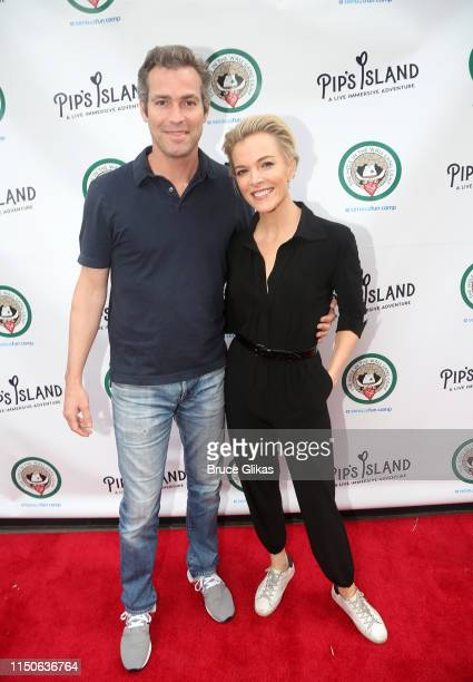 """Douglas Brunt and Megyn Kelly pose at the opening night celebration for """"Pip's Island"""" benefiting the Hole in the Wall Gang Camp at 400 West 42nd..."""