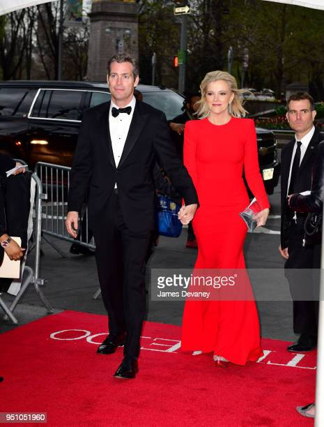 Douglas Brunt and Megyn Kelly seen in Columbus Circle on their way to the 2018 Time 100 Gala on April 24 2018 in New York City