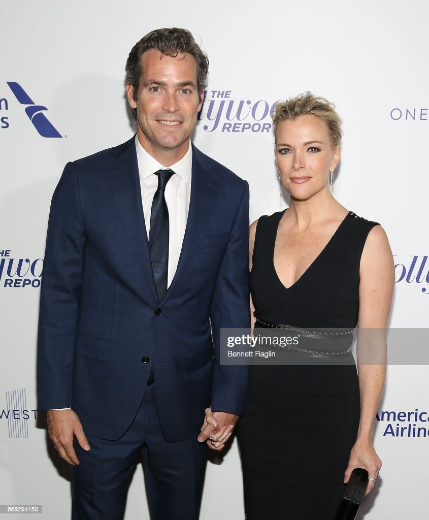 Douglas Brunt and tv personality Megyn Kelly attend The Hollywood Reporter's 35 Most Powerful People In Media 2017 at The Pool on April 13, 2017 in New York City.