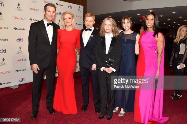 Douglas Brunt Megyn Kelly Ronan Farrow Mia Farrow Emily Nestor and Padma Lakshmi attend the 2018 TIME 100 Gala at Jazz at Lincoln Center on April 24...
