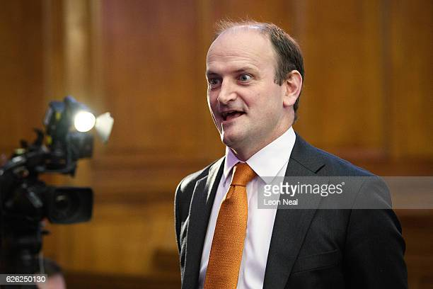 Douglas Carswell arrives before Paul Nuttall is named as the new UKIP party leader on November 28 2016 in London England The previous leader Diane...