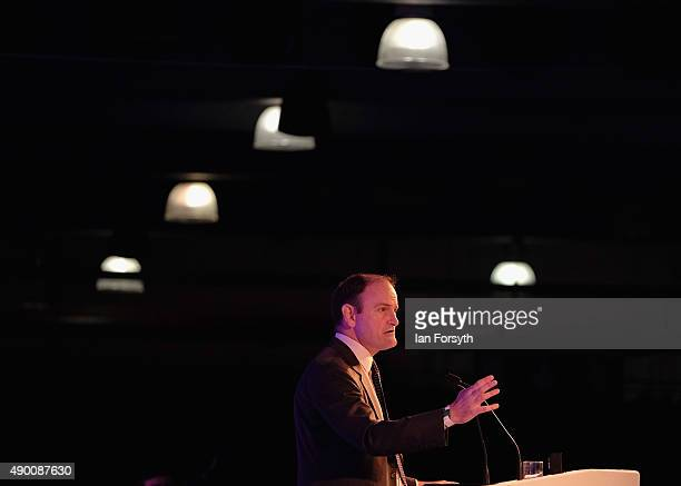 Douglas Carswell MP speaks to party members and supporters during the UK Independence Party annual conference on September 26 2015 in Doncaster...