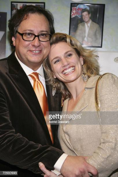 Douglas Carter Beane and Cady Huffman attend the opening night party for the Broadway comedy The Little Dog Laughed at Planet Hollywood on November...