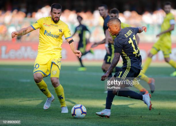 Douglas Costa during Serie A match between Juventus v Chievo Verona in Verona on August 18 2018