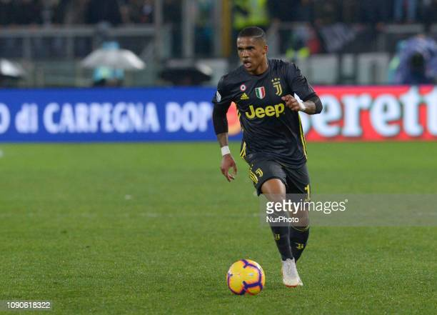 Douglas Costa during the Italian Serie A football match between SS Lazio and FC Juventus at the Olympic Stadium in Rome on january 27 2019