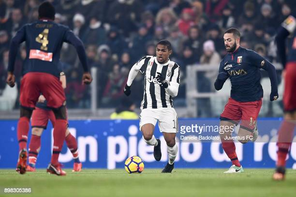 Douglas Costa during the TIM Cup match between Juventus and Genoa CFC at Allianz Stadium on December 20 2017 in Turin Italy