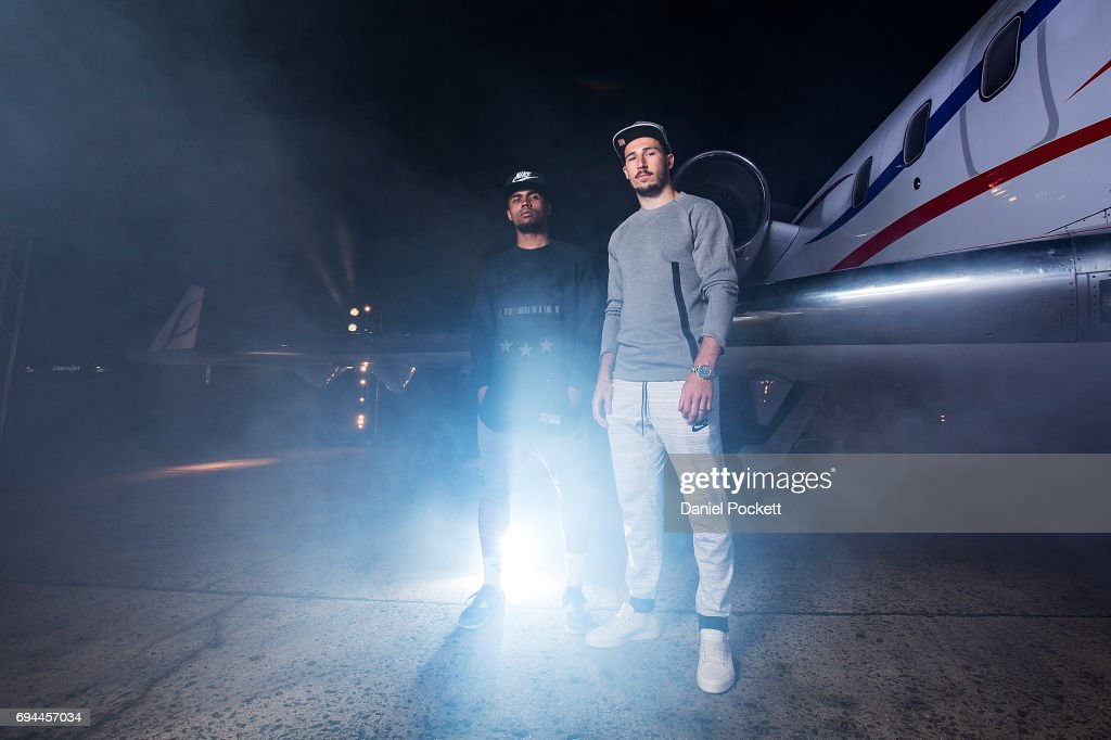 Nike no turning back fan meet greet photos and images getty images douglas costa of brazil and mathew leckie of australia pose for a photo during the nike m4hsunfo