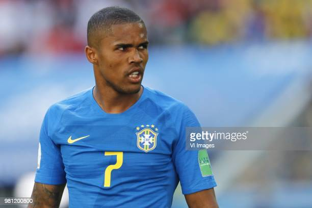 Douglas Costa of Brazil during the 2018 FIFA World Cup Russia group E match between Brazil and Costa Rica at the Saint Petersburg Stadium on June 22...