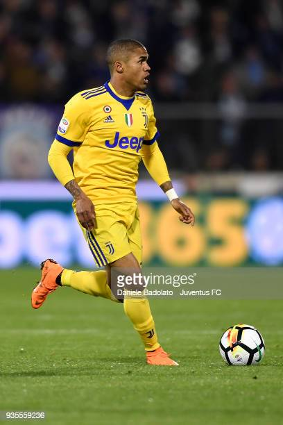 Douglas Costa of Juventus during the serie A match between Spal and Juventus at Stadio Paolo Mazza on March 17 2018 in Ferrara Italy