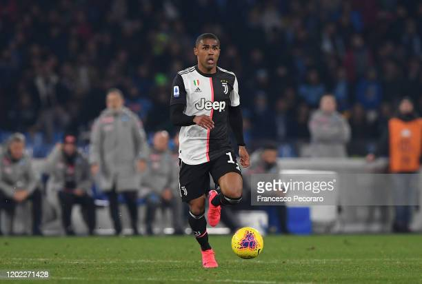 Douglas Costa of Juventus during the Serie A match between SSC Napoli and Juventus at Stadio San Paolo on January 26 2020 in Naples Italy