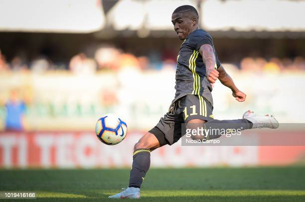 Douglas Costa of Juventus FC in action during the Serie A football match between AC ChievoVerona and Juventus FC Juventus FC won 32 over AC...