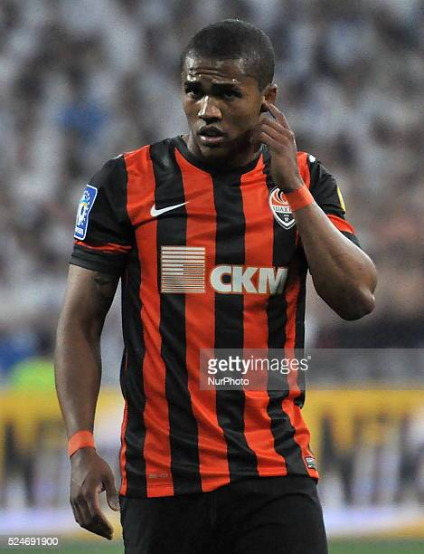 Douglas Costa Shakhtar reacts during the match between FC Dynamo Kyiv and FC Shakhtar Donetsk in the Ukrainian Cup final at the Olympic Stadium in...
