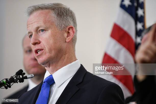 Douglas County district attorney George Brauchler speaks to the media regarding the shooting at STEM School Highlands Ranch during a press conference...