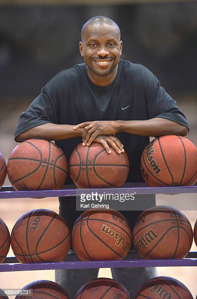 Douglas County High School basketball coach Earl Boykins posed for a photo before an open gym practice Tuesday night May 6 2014 Boykins played in the...