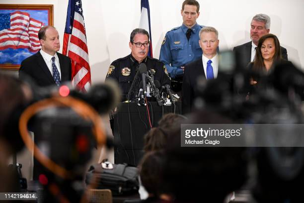 Douglas County sheriff Tony Spurlock speaks to the media regarding the shooting at STEM School Highlands Ranch during a press conference at Douglas...