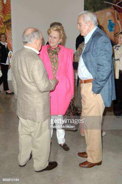 Douglas Cramer Jackie Blum and Irving Blum attend Larry Gagosian Hosts Private Reception and Brunch to Celebrate Jeff Koons New Paintings at Gagosian...