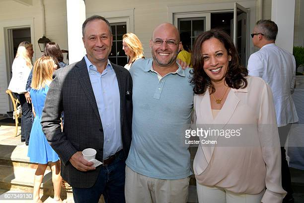Douglas Emhoff, ICM Partners' Chris Silbermann and Attorney General of California Kamala Harris at the ICM Partners Pre-Emmy Brunch on September 17,...
