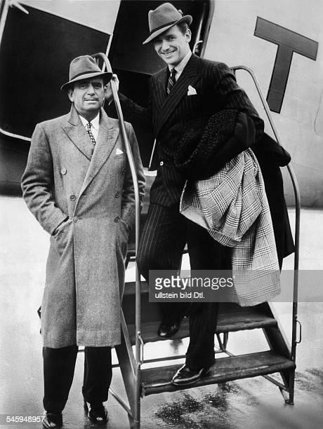 Douglas Fairbanks *23.05.1883 -+Actor and producer, USAwith his son Douglas Fairbanks jun. - 1936