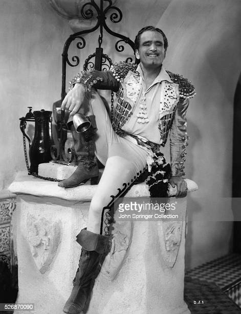 Douglas Fairbanks as he appears in the 1934 comedic drama, The Private Life of Don Juan, where he plays the lead role of Don Juan.